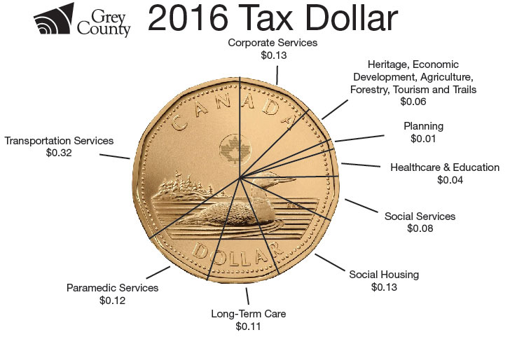 photo of the tax dollar