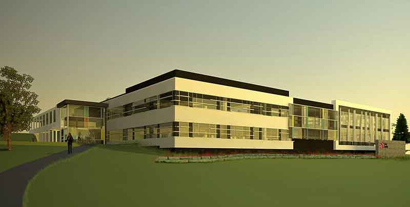 Concept drawing of the administration building.