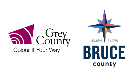 Grey County and Bruce County logos