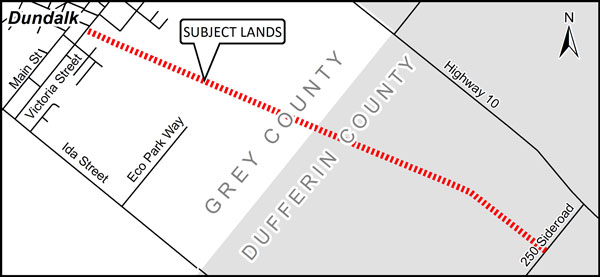 map of trail construction in dundalk