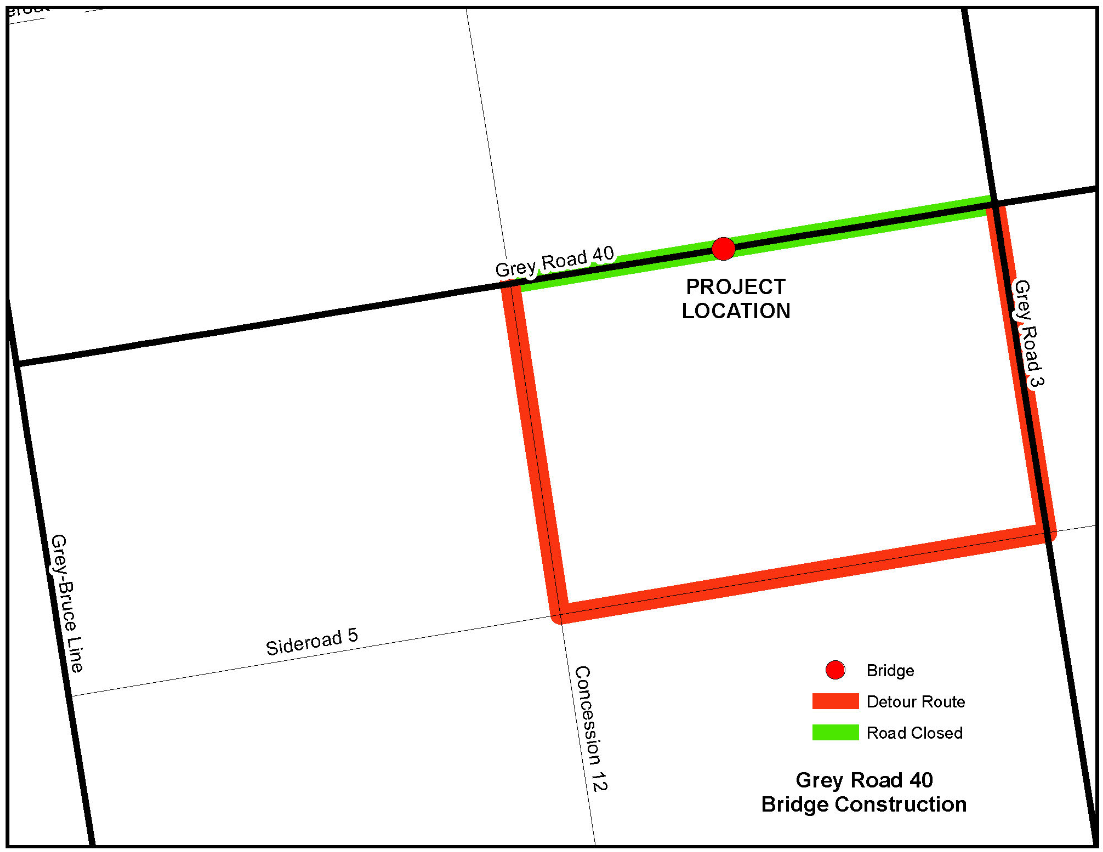 Picture of planned construction