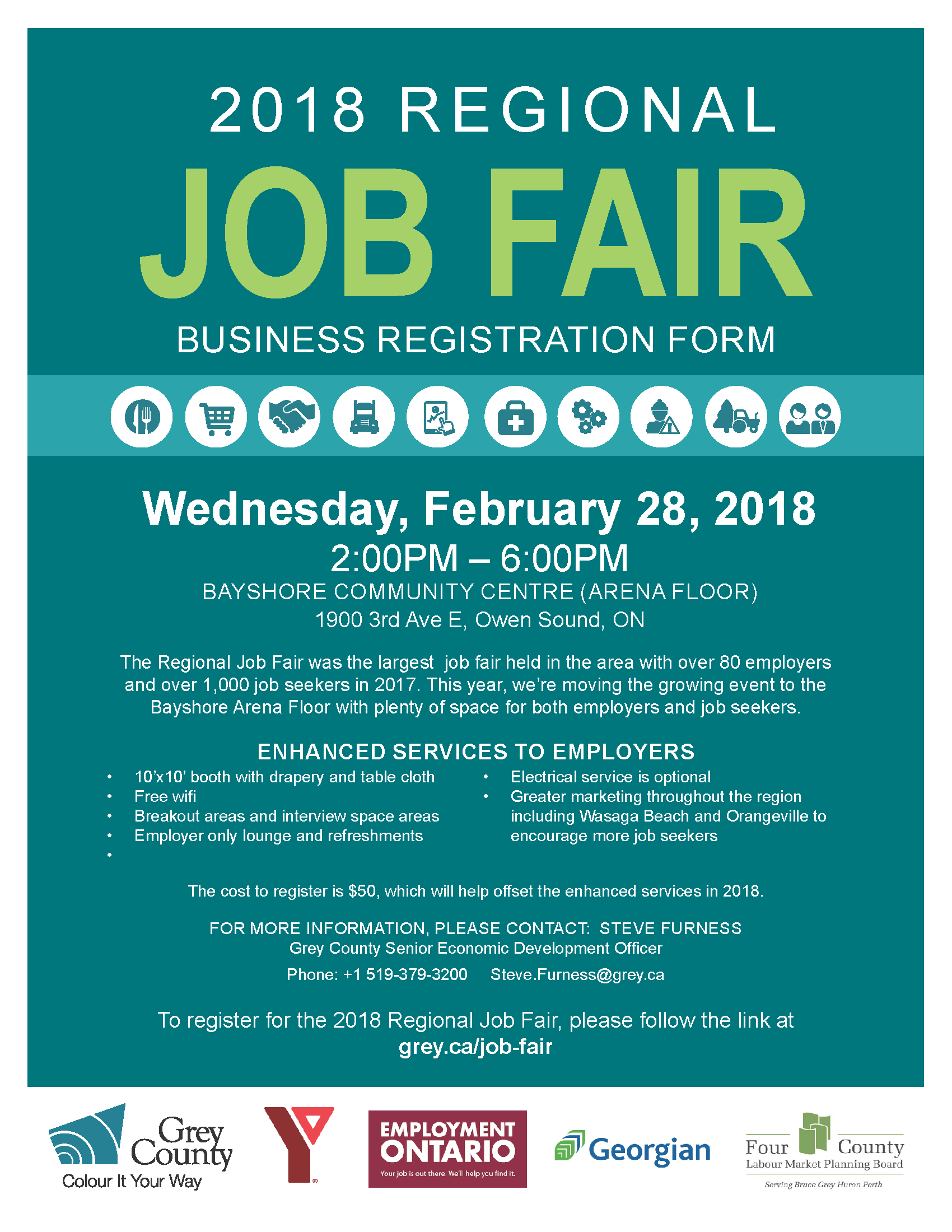 registration open to businesses for the 2018 regional job fair
