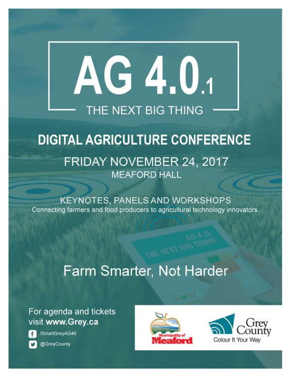 Poster for Ag 4.0 event.