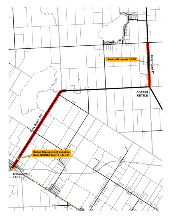 Map of the planned construction.