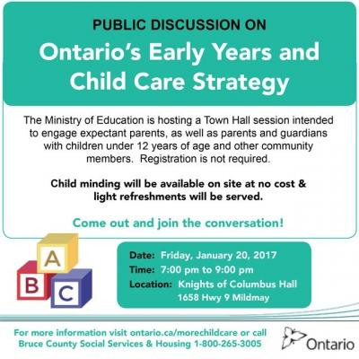 Ontario Early Years and Child Care Strategy