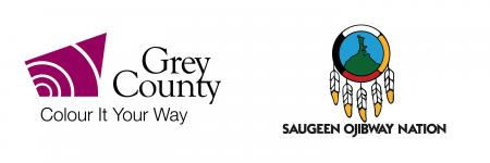 Grey County and Saugeen Ojibway Nation logos