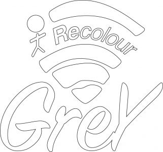 Outline of the Recolour Grey logo