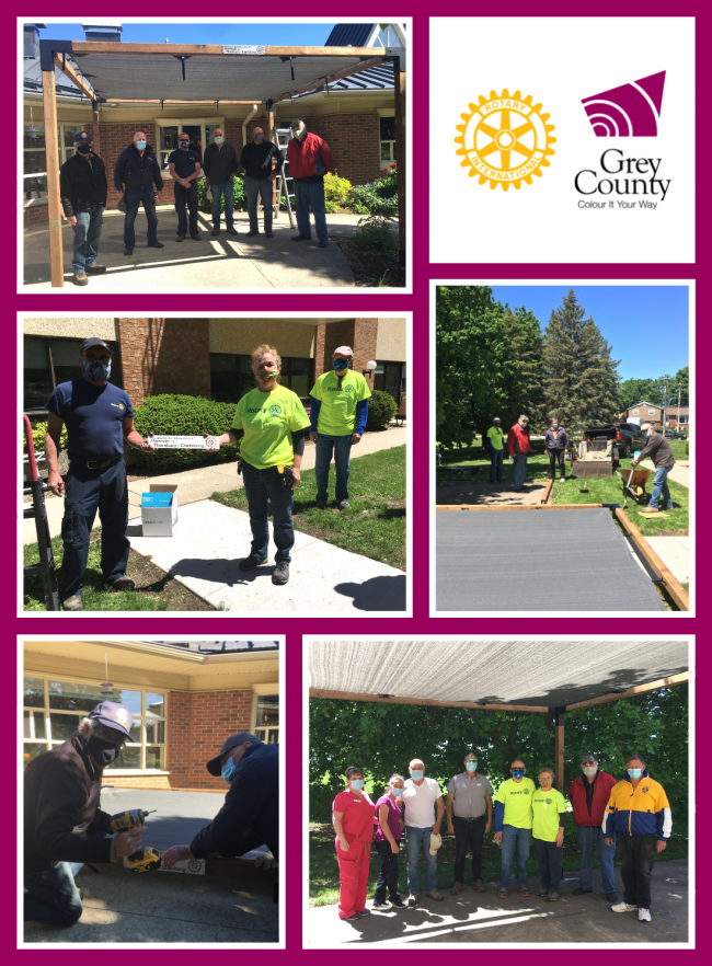 Grey County Rotary Clubs Install Sunshades in LTC Communities