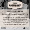 Micro grant program offered to students to create and sell products