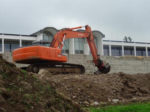 Exterior wall and drainage work