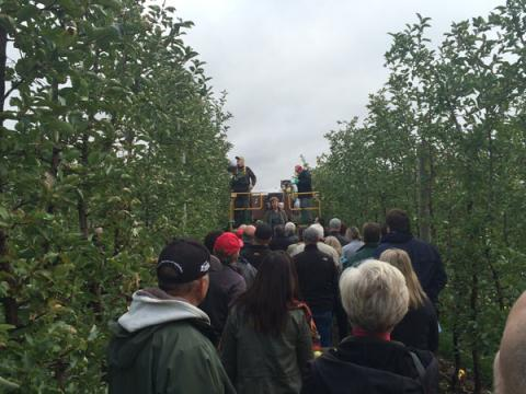 Tour gGroup at T&K Ferri Orchards