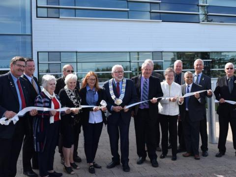 County Council cutting the ribbon at the grand opening