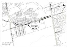 Environmental assessment study map of Grey Road 19 widening project