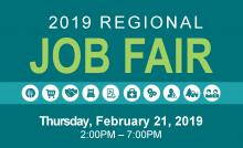 2019 Regional Job Fair - february 21 2:00pm to 7:00pm