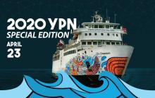 Poster for the 2020 YPN Special Edition aboard the Chi-Cheemaun on April 23