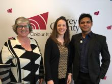 Jane Philips, Courtney Miller and Raj Islam