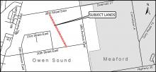 Map showing where the CP Rail Trail will be closed.