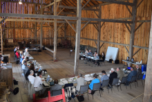 grey County council meets in the historic barn at Grey Roots museum