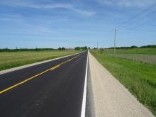 A freshly paved Grey County Road