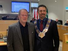 Alternate Councillor Harold Fleet and Warden Paul McQueen