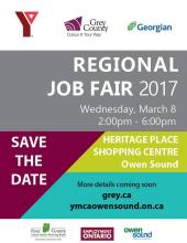 Poster for the Regional Job Fair on March 8 in Owen Sound