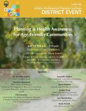 Poster for the Age-Friendly Communities event on June 1
