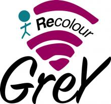 Recolour grey logo created by youth at the Launch Pad Youth Activity and Technology Centre