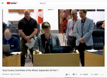 Community Drug and Alcohol Strategy presentation at Grey County Council September 26, 2019
