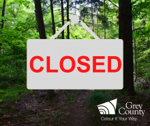 forest closed sign