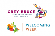 Welcoming Week Celebrations in Grey and Bruce Counties from September 10 - 19 (logos)